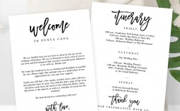 003 Stirring Wedding Welcome Bag Letter Template Image  Free