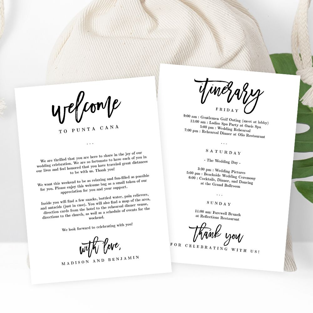 003 Stirring Wedding Welcome Bag Letter Template Image  FreeFull