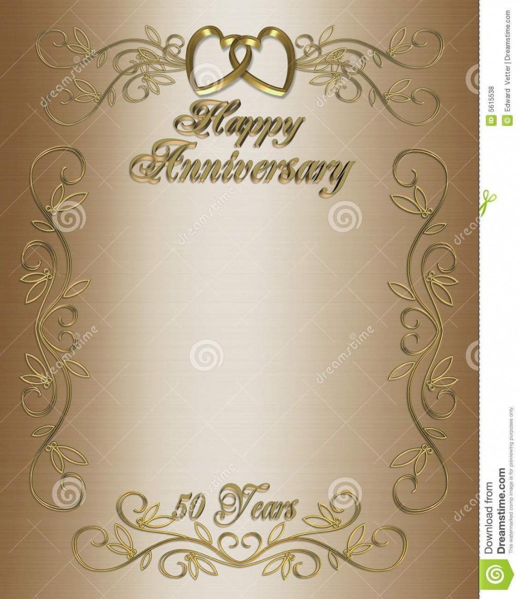 003 Striking 50th Anniversary Invitation Card Template Design  Templates FreeLarge