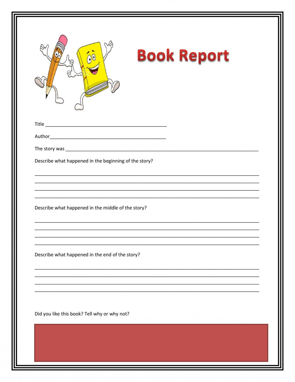 003 Striking 6th Grade Book Report Format Design  Sixth Example Printable Middle School TemplateLarge