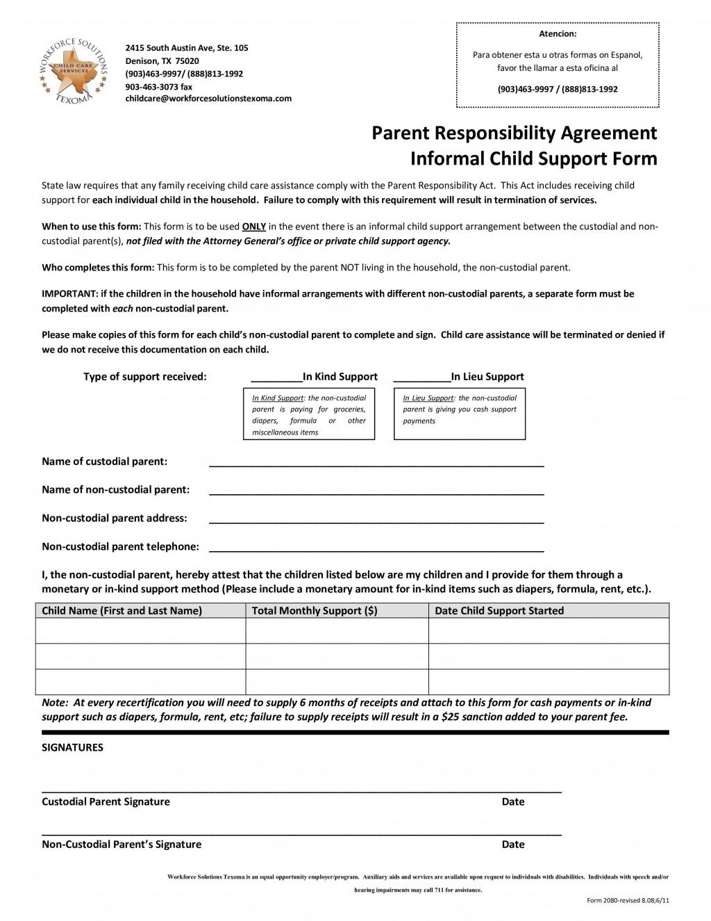 003 Striking Child Support Agreement Template Concept  Australia Bc AlbertaLarge