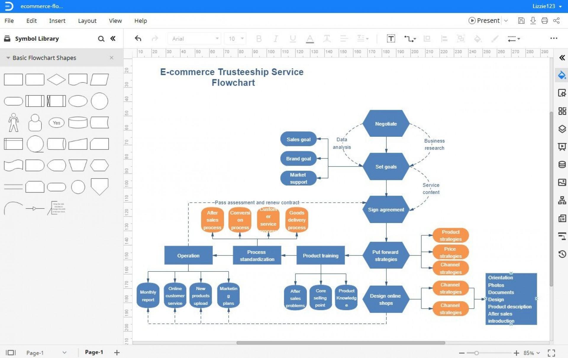 003 Striking Excel Flow Chart Template Highest Quality  Templates Basic Flowchart Microsoft Free 20101920