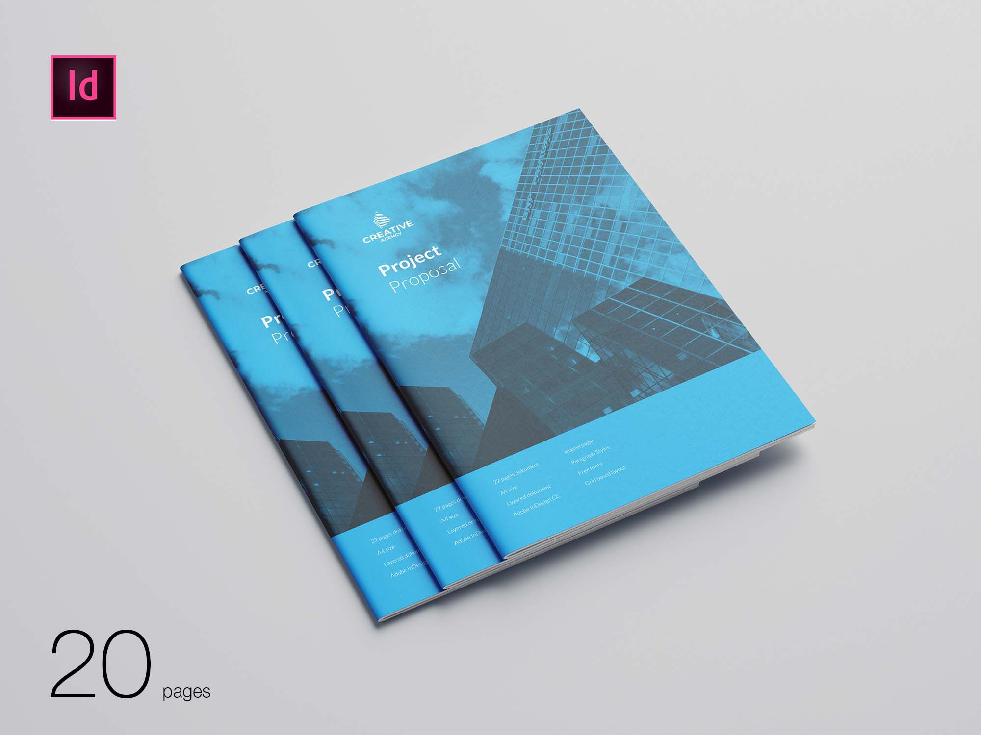 003 Striking Free Busines Proposal Template Indesign Design Full