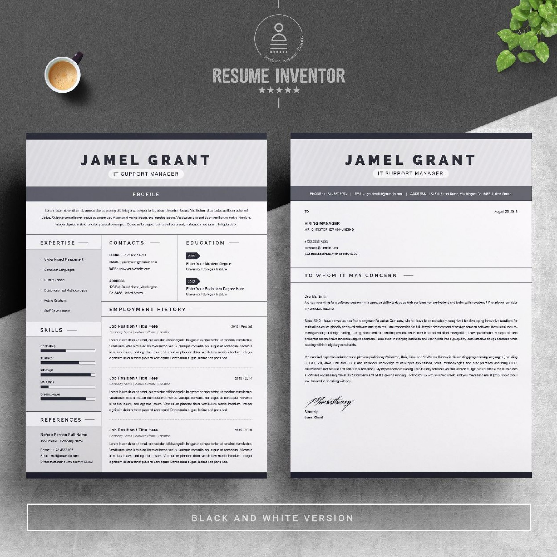003 Striking Free One Page Resume Template Sample  Word Download 2018 Best1920