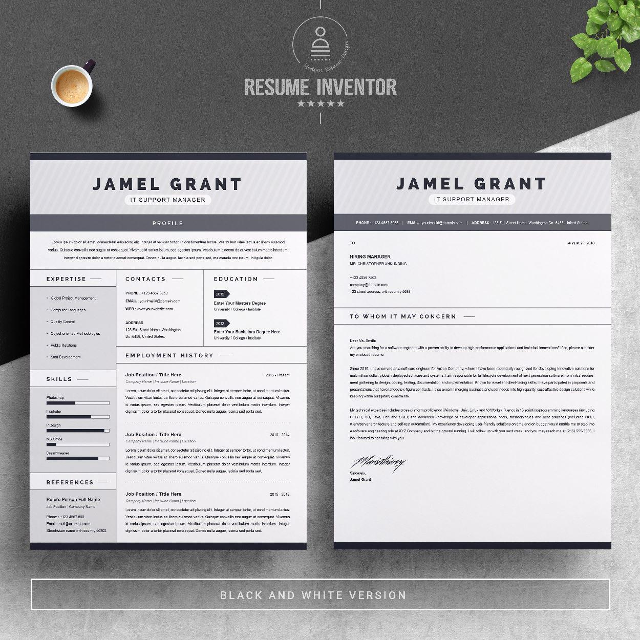 003 Striking Free One Page Resume Template Sample  Word Download 2018 BestFull
