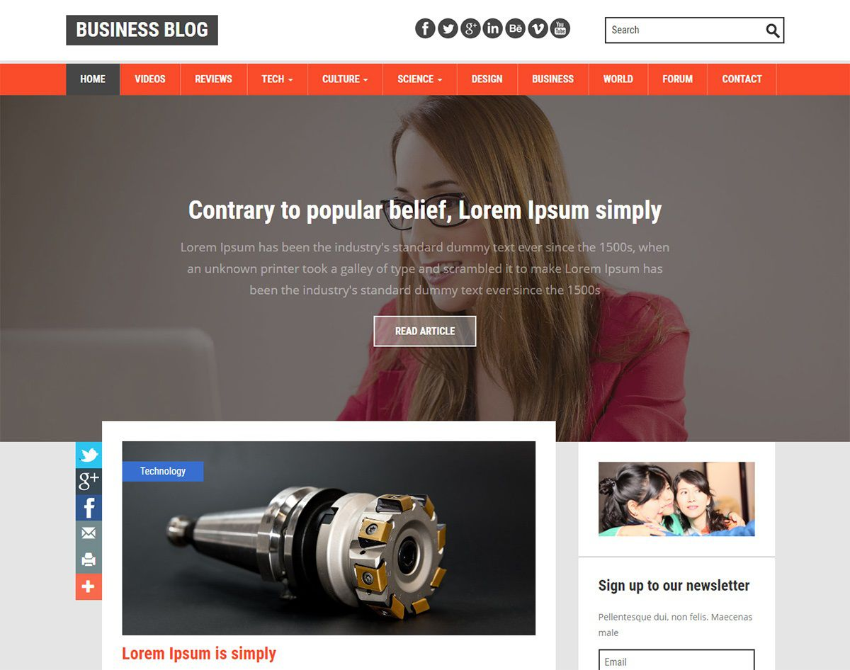 003 Striking Free Responsive Blogger Template With Slider High Definition Full