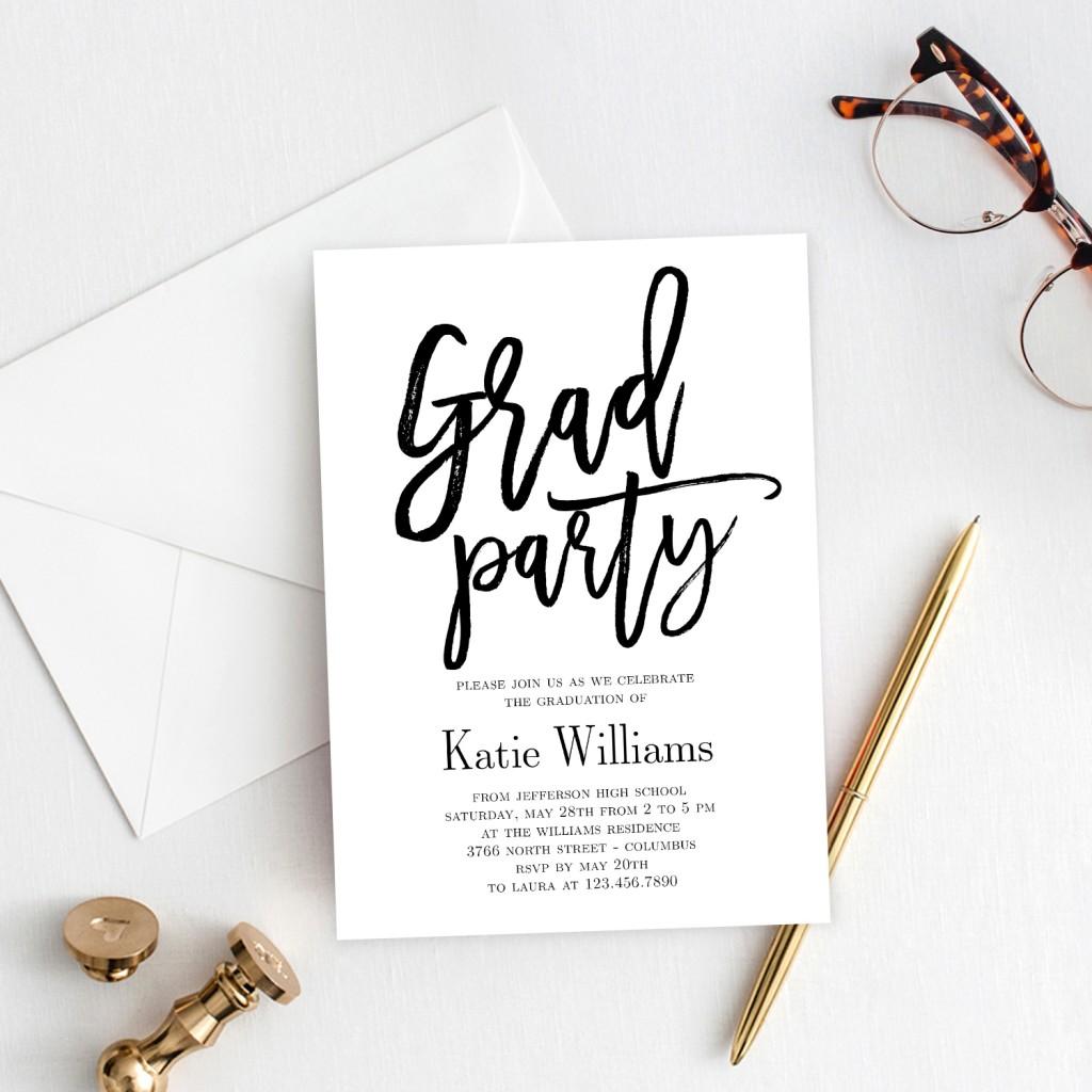 003 Striking Graduation Party Invitation Template Inspiration  Microsoft Word 4 Per PageLarge