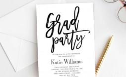 003 Striking Graduation Party Invitation Template Inspiration  Microsoft Word 4 Per Page