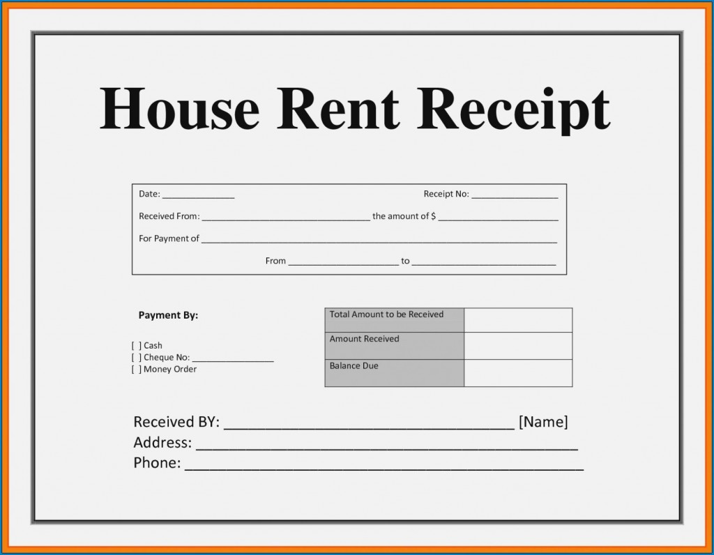 003 Striking House Rent Receipt Sample Doc Inspiration  Template India Bill Format Word Document Pdf DownloadLarge