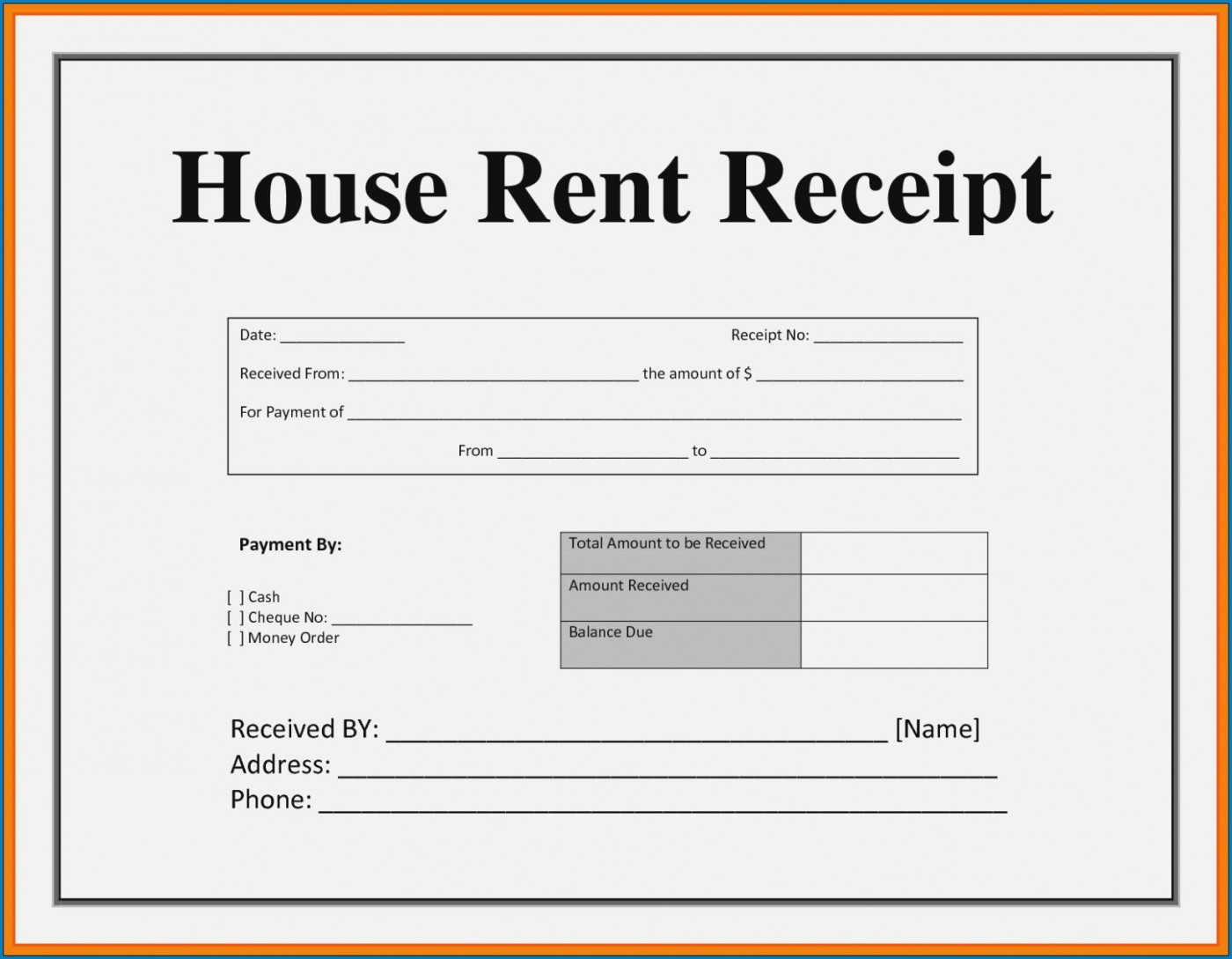 003 Striking House Rent Receipt Sample Doc Inspiration  Template Word Document Free Download Format For Income Tax1400