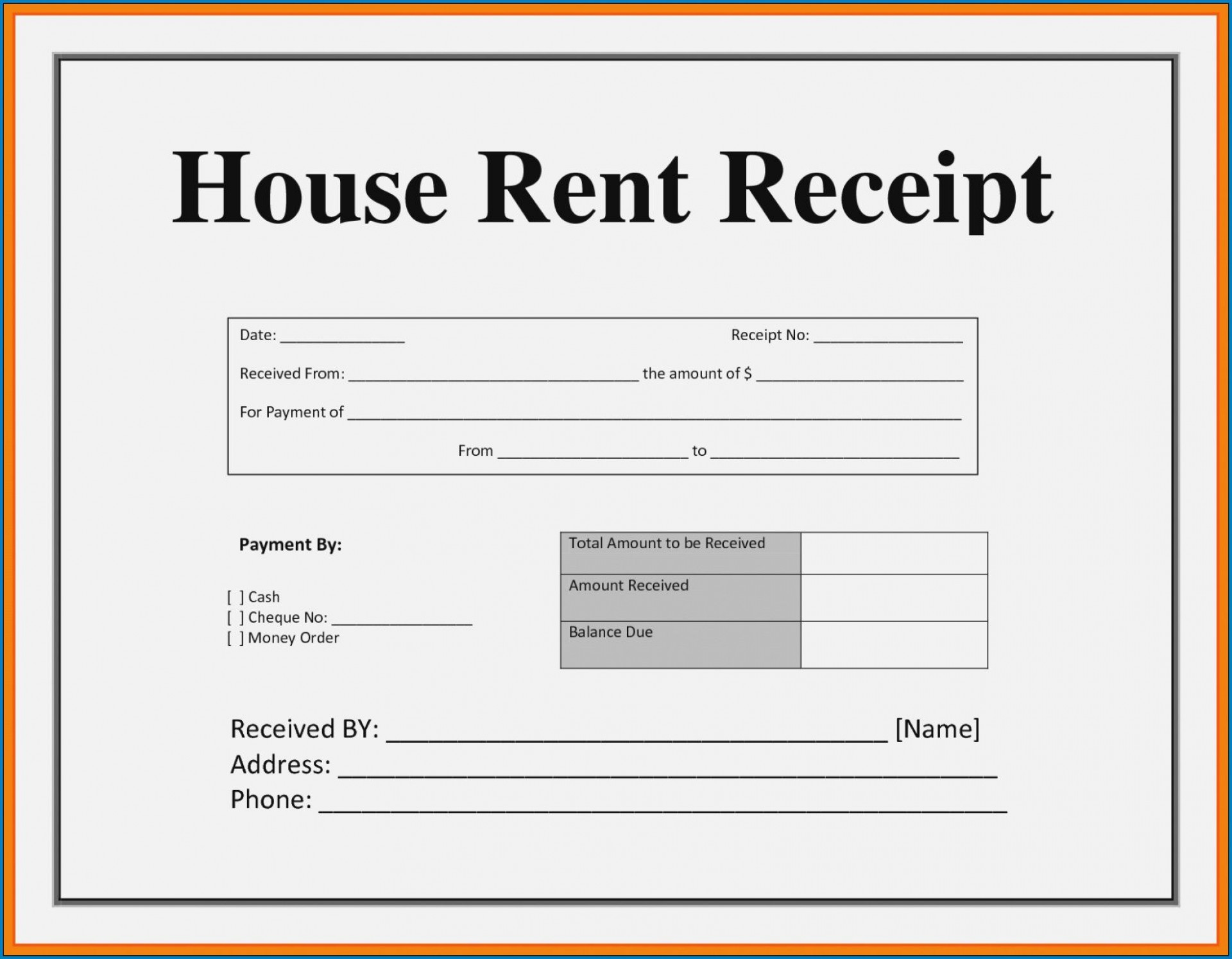 003 Striking House Rent Receipt Sample Doc Inspiration  Format Download Bill Template India1920