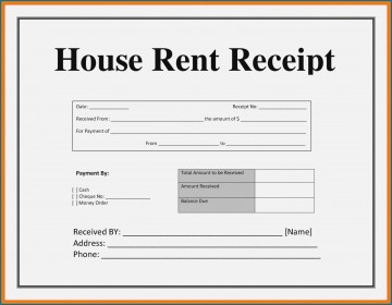 003 Striking House Rent Receipt Sample Doc Inspiration  Format Download Bill Template India360