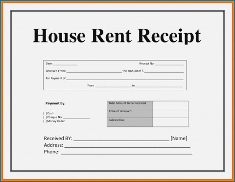 003 Striking House Rent Receipt Sample Doc Inspiration  Format Download Bill Template India480