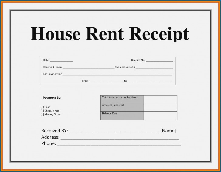 003 Striking House Rent Receipt Sample Doc Inspiration  Format Download Bill Template India728