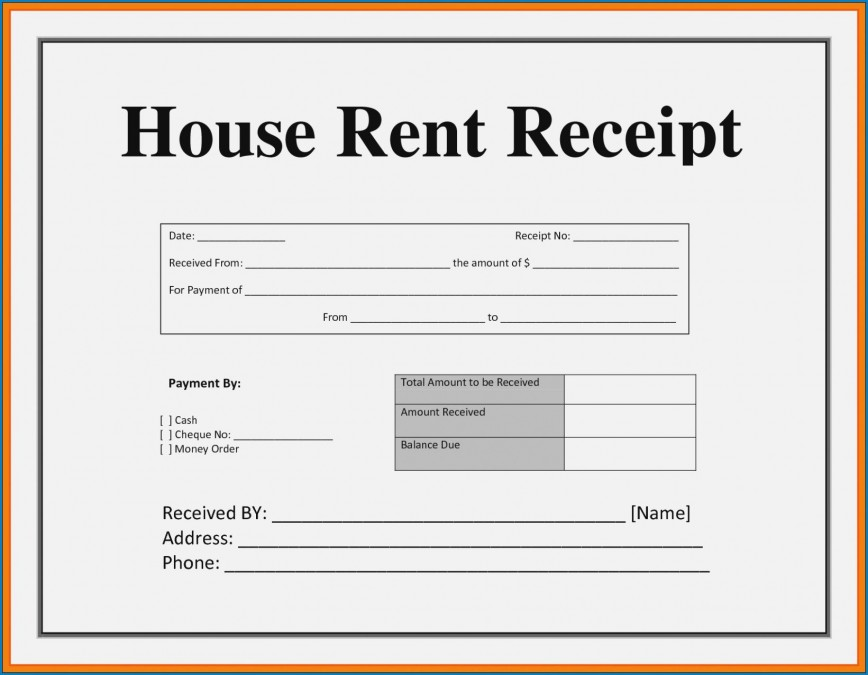 003 Striking House Rent Receipt Sample Doc Inspiration  Format Download Bill Template India868