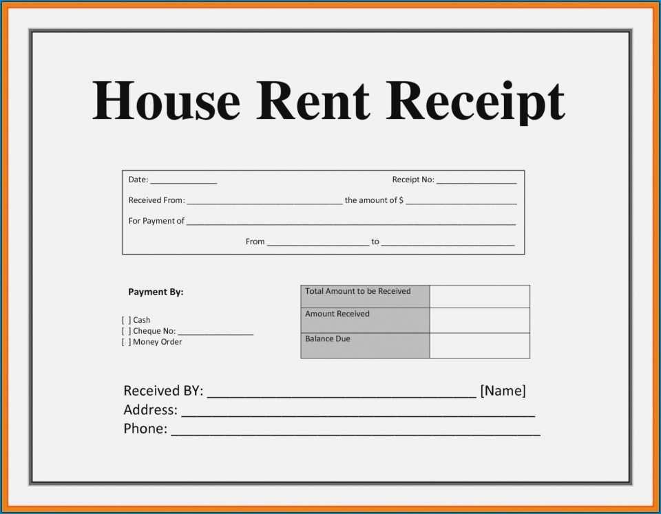 003 Striking House Rent Receipt Sample Doc Inspiration  Format Download Bill Template India960