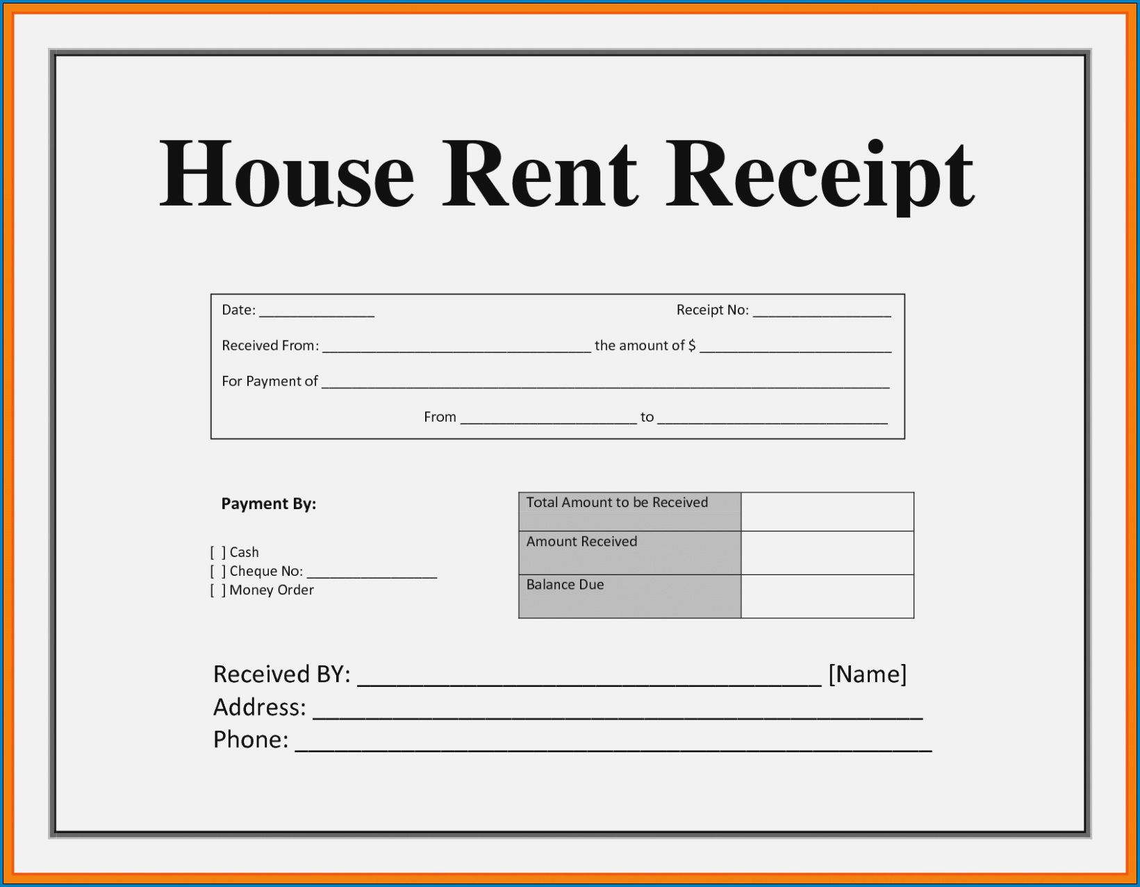 003 Striking House Rent Receipt Sample Doc Inspiration  Format Download Bill Template IndiaFull
