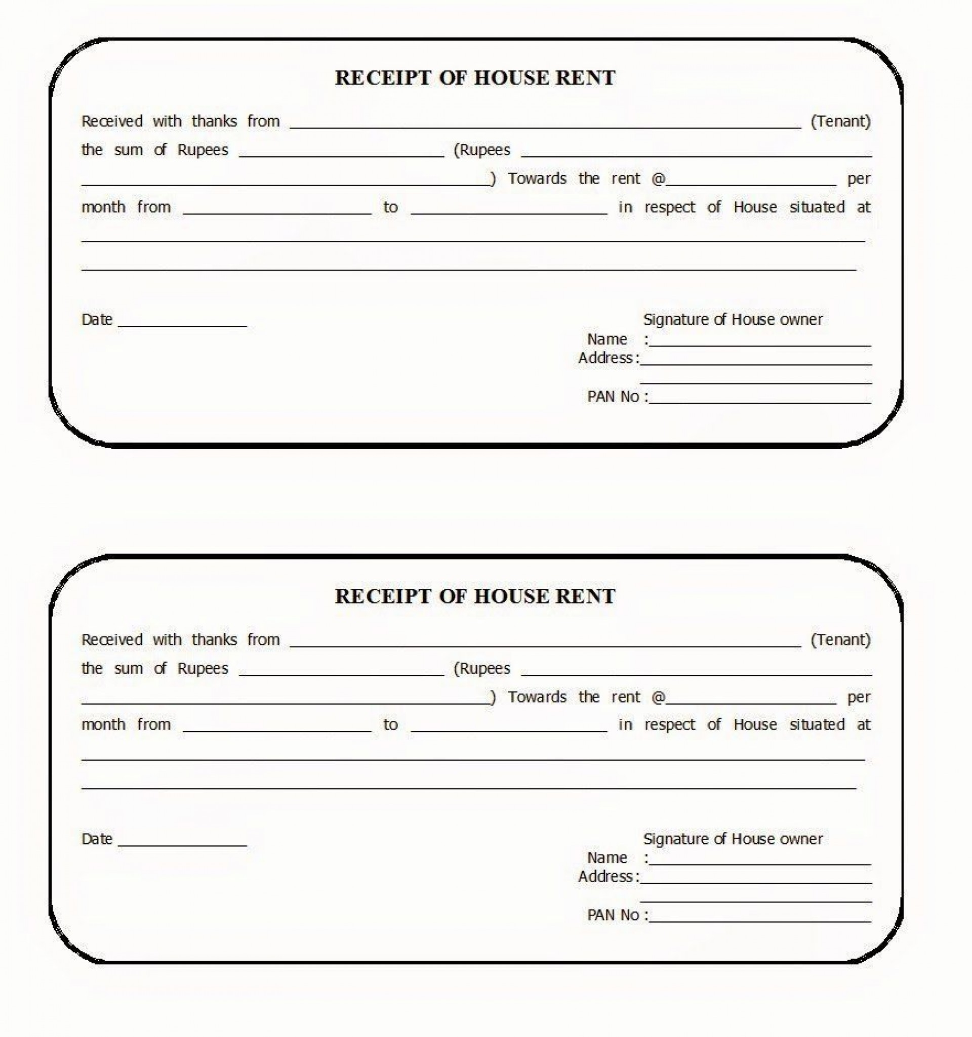 003 Striking House Rent Receipt Template India Doc Highest Clarity  Format Download1920