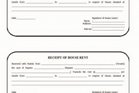 003 Striking House Rent Receipt Template India Doc Highest Clarity  Format Download