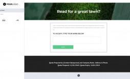 003 Striking Lawn Care Bid Template Idea  Sheet Commercial Service Proposal Free
