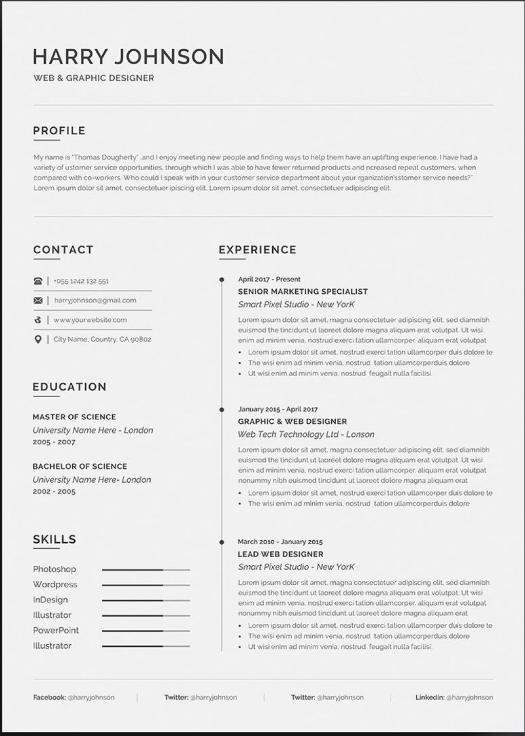 003 Striking Professional Resume Template Word High Definition  Microsoft Download Free 2010 2019Large