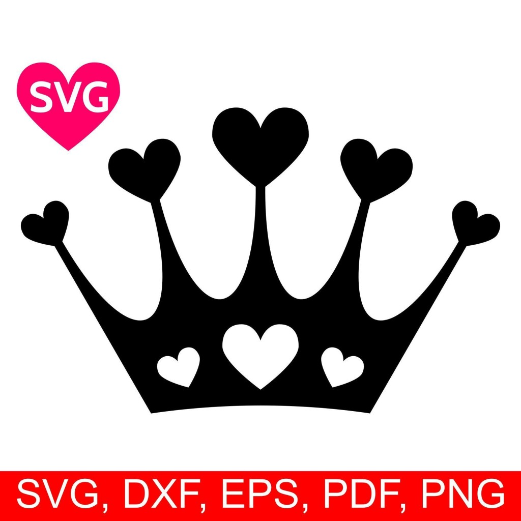 003 Striking Queen Of Heart Crown Printable Inspiration  TemplateLarge