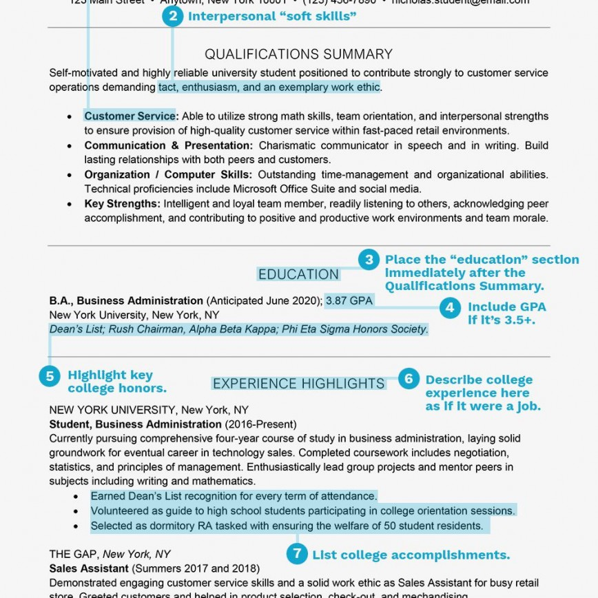 003 Striking Resume Template For Student Example  Students College Internship Free Page Download