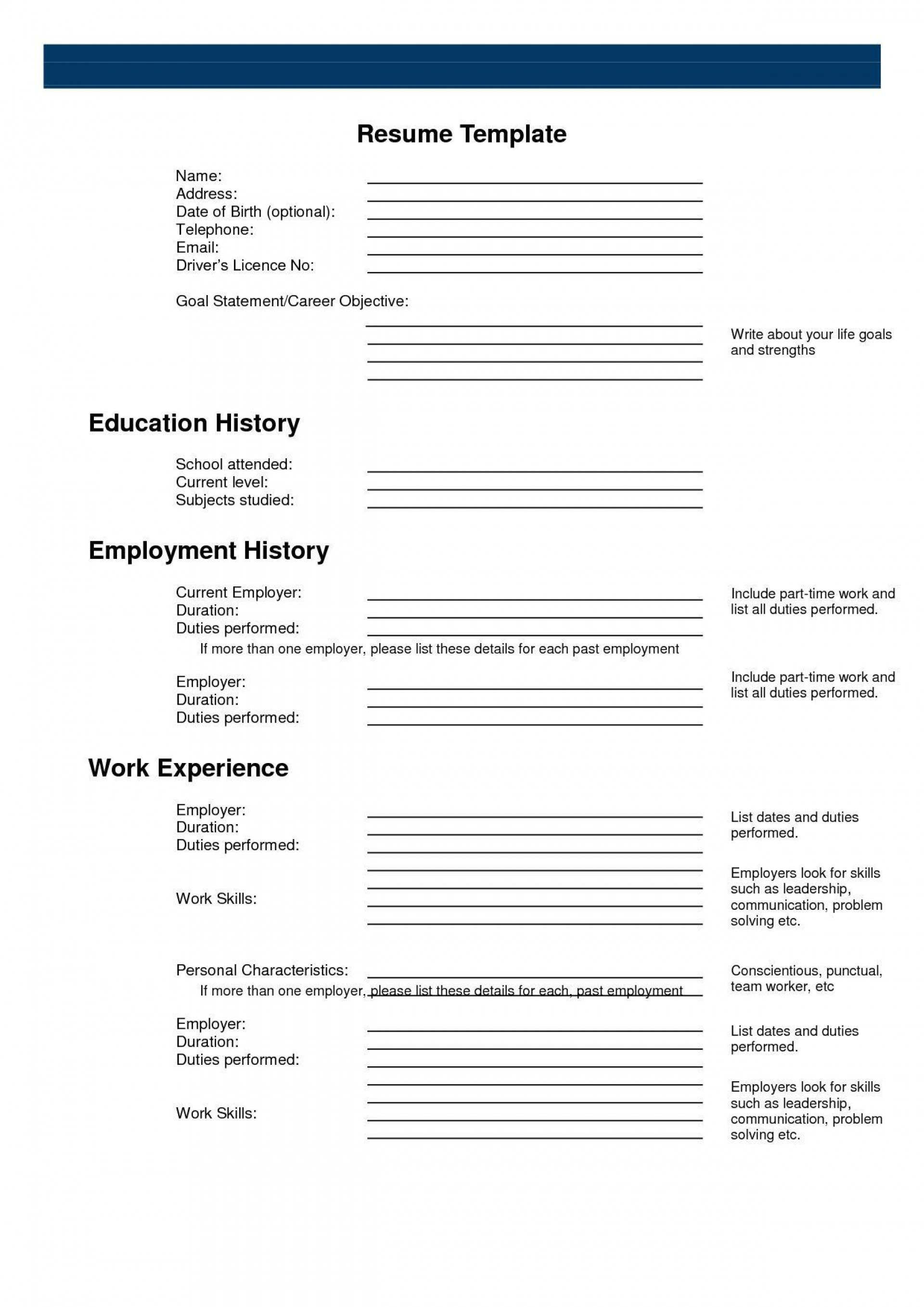 003 Striking Resume Template Free Printable Concept  Online Word1920