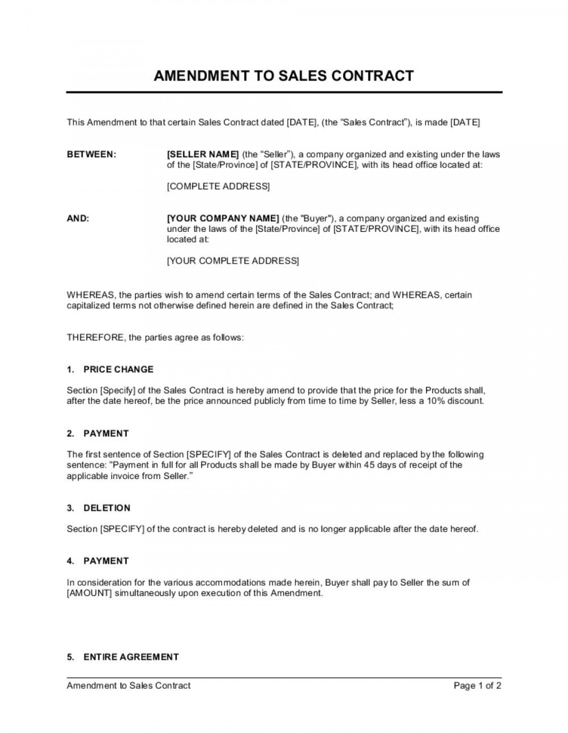 003 Striking Sale Agreement Template Word High Def  Contract Free Real Estate Land Format1920