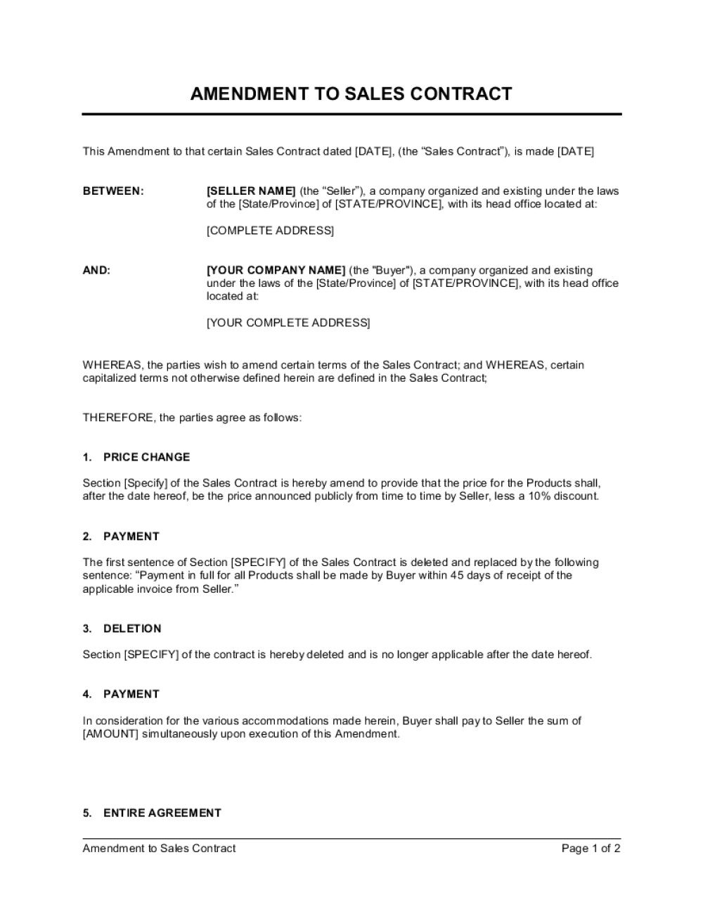003 Striking Sale Agreement Template Word High Def  Contract Free Real Estate Land FormatFull