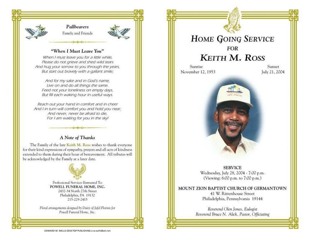 003 Striking Sample Template For Funeral Program Highest Clarity Large
