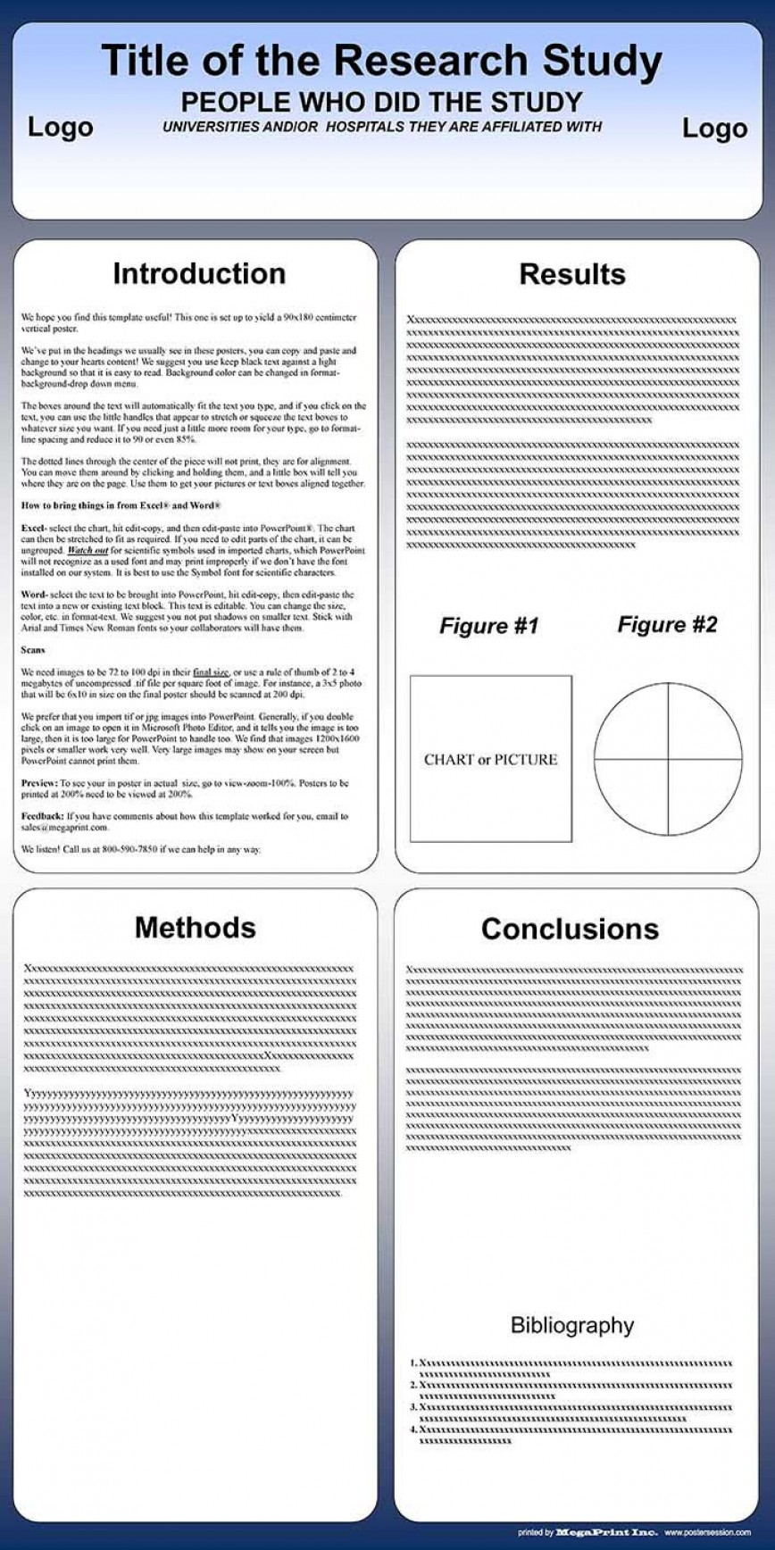 003 Striking Scientific Poster Template Free Download High Resolution  Creative Ppt A0