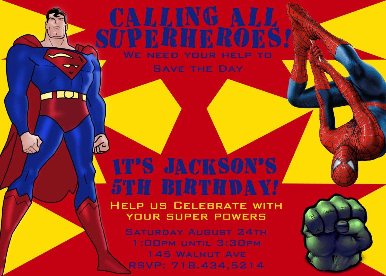 003 Striking Superhero Newspaper Invitation Template Free Concept Full