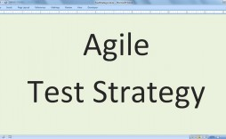 003 Stunning Agile Test Plan Template Photo  Word Example Document