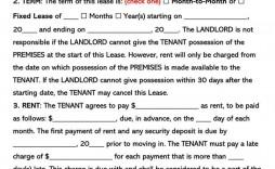 003 Stunning Apartment Lease Agreement Form Texa Example  Texas
