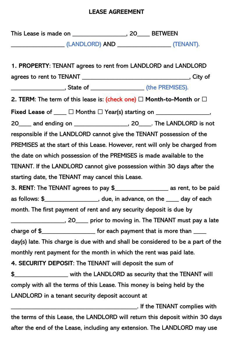 003 Stunning Apartment Lease Agreement Form Texa Example Full