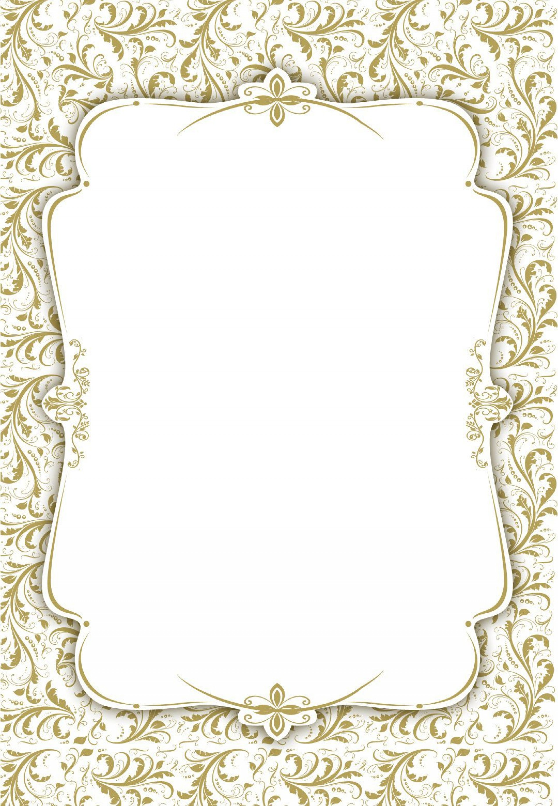 003 Stunning Blank Wedding Invitation Template Idea  Templates Free Download Printable Royal Blue1920
