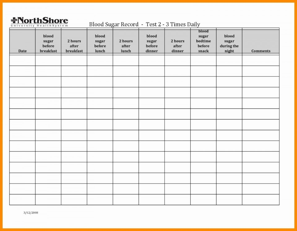 003 Stunning Blood Glucose Spreadsheet Template Picture  Tracking960