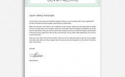 003 Stunning Cover Letter Sample Template Word Highest Quality  Resume Microsoft
