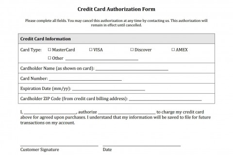 003 Stunning Credit Card Authorization Template High Resolution  Form For Travel Agency Free Download Google Doc480