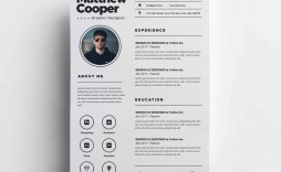 003 Stunning Cv Design Photoshop Template Free Idea  Creative Resume Psd Download