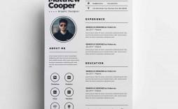 003 Stunning Cv Design Photoshop Template Free Idea  Resume Psd Download