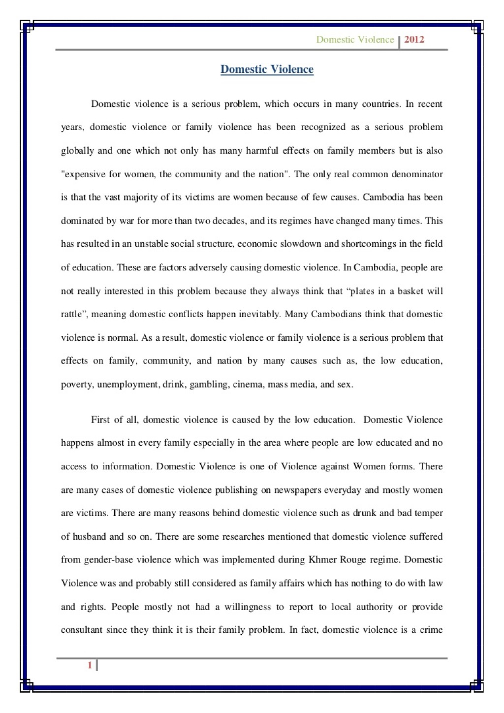 003 Stunning Domestic Violence Essay Picture  Persuasive Topic QuestionLarge