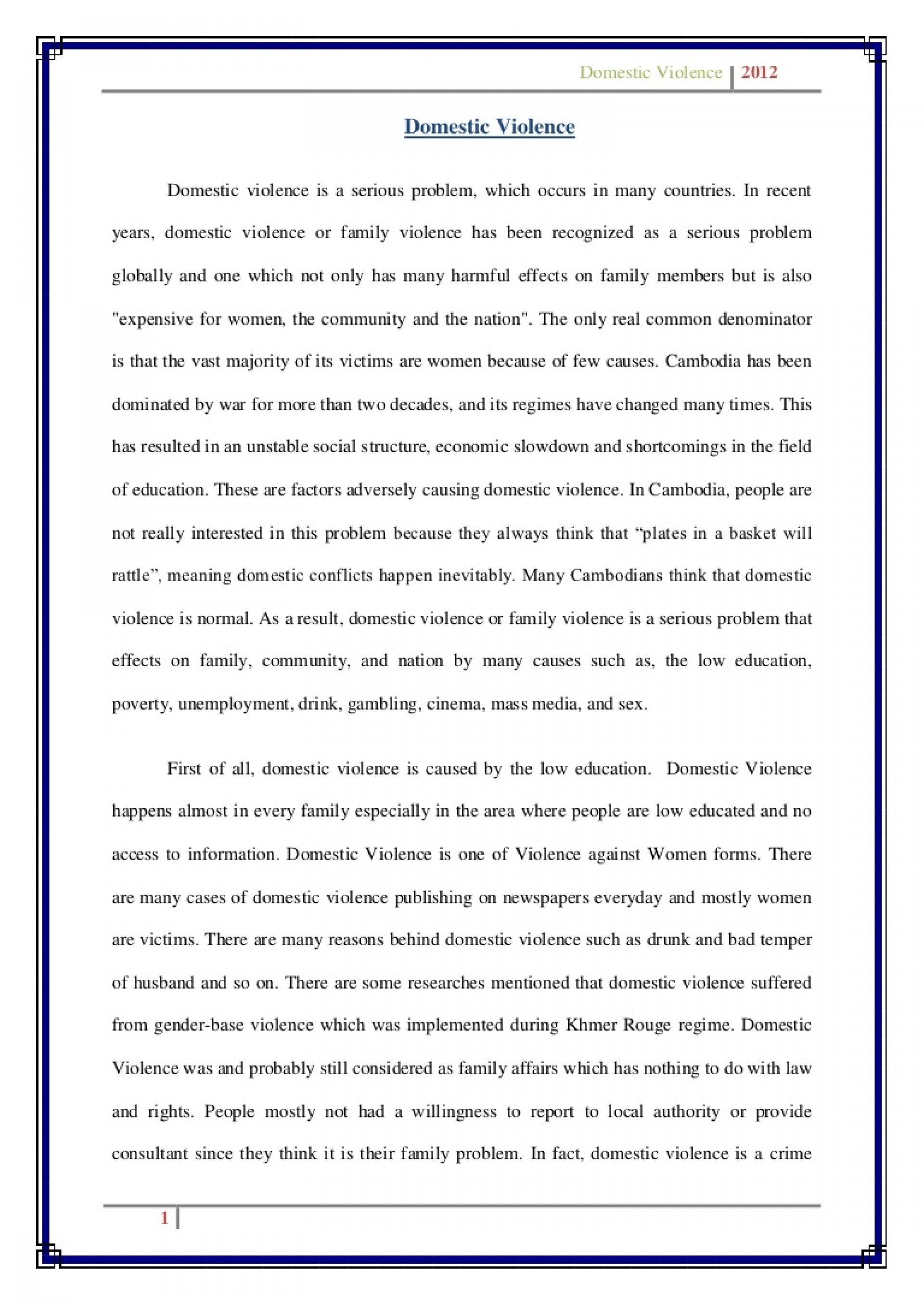 003 Stunning Domestic Violence Essay Picture  Persuasive Topic Question1920