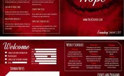 003 Stunning Free Church Program Template High Resolution  Printable Anniversary Doc