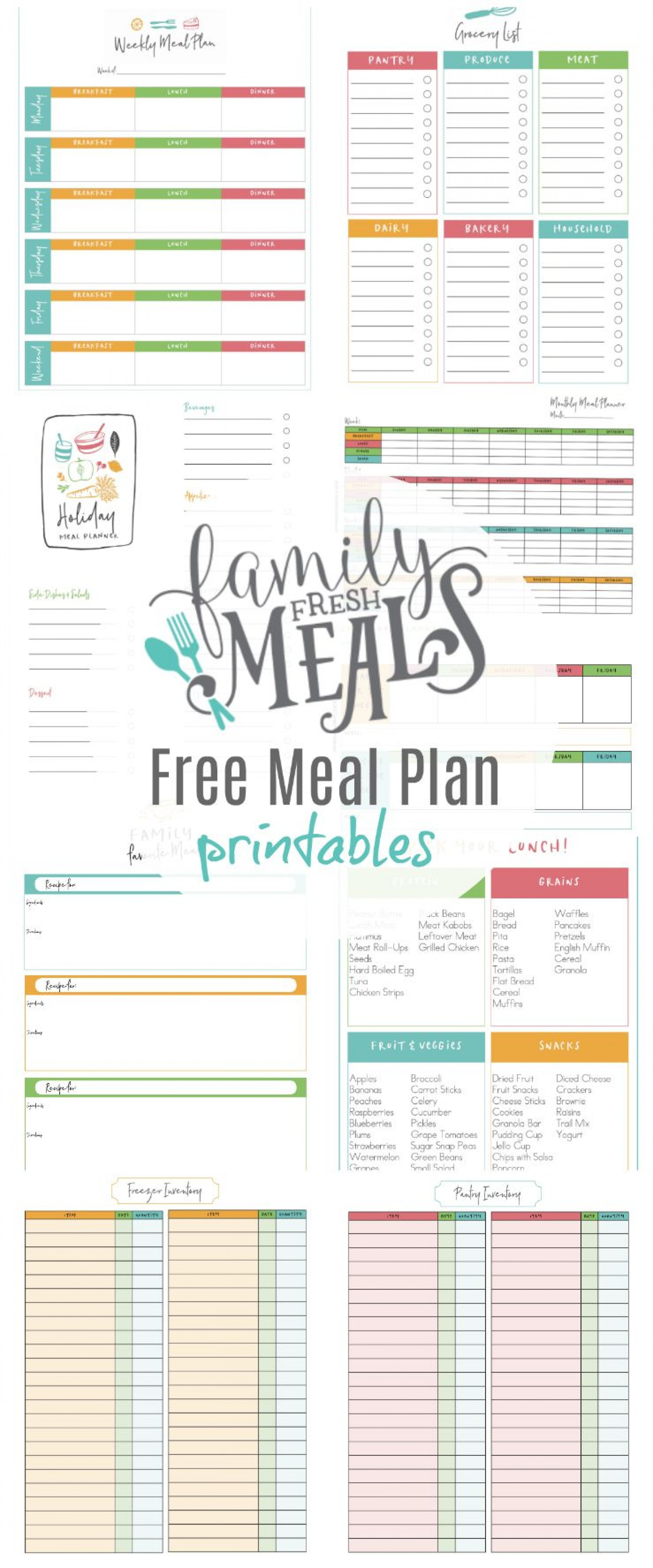 003 Stunning Free Meal Plan Template Concept  Templates Easy Keto Printable Planner For Weight Los1920
