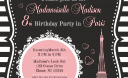 003 Stunning Free Pari Birthday Party Invitation Template Highest Clarity  Templates