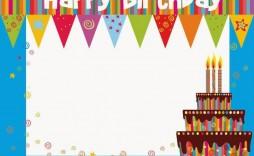 003 Stunning Free Printable Birthday Card Template For Mac Design