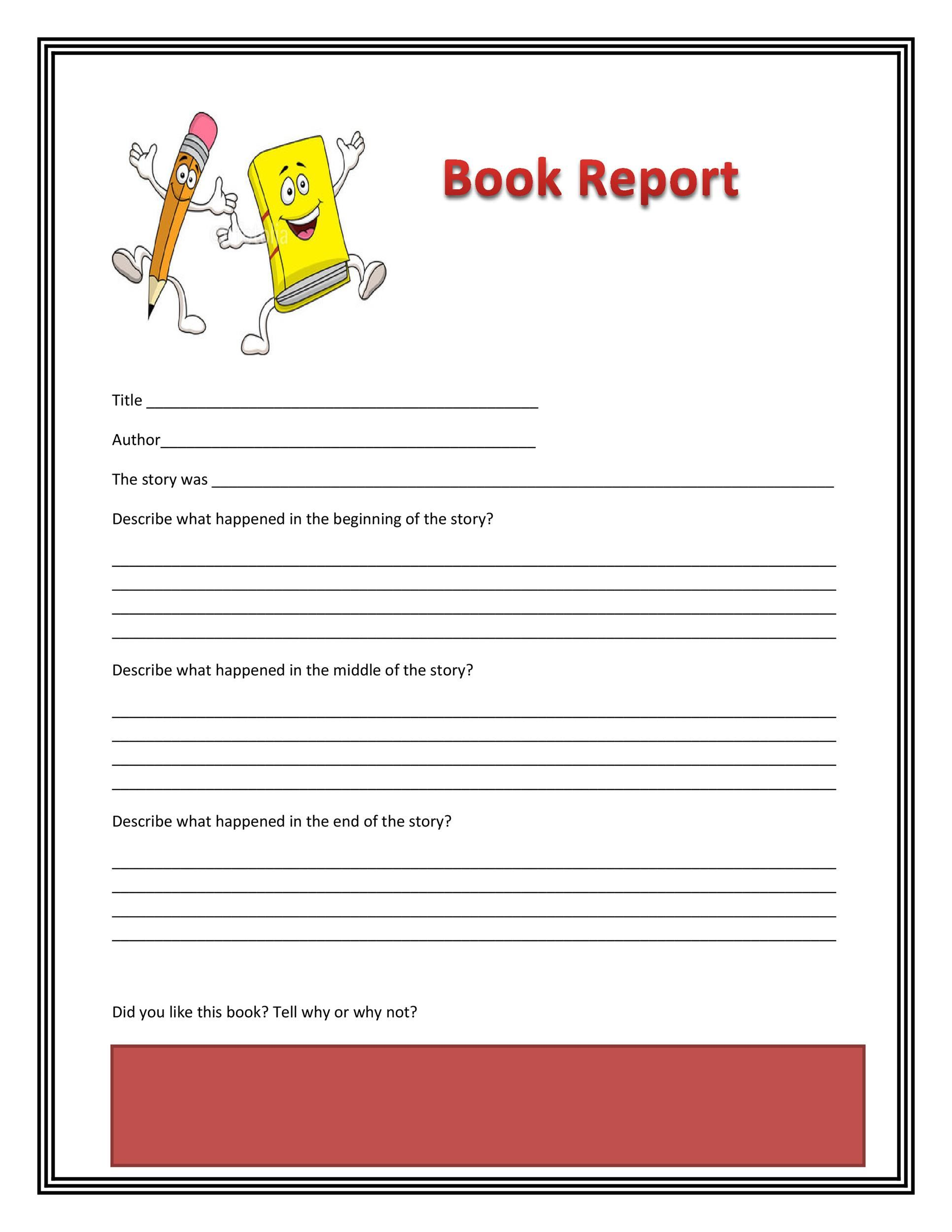 003 Stunning Free Printable Book Report Template For 6th Grade Photo Full