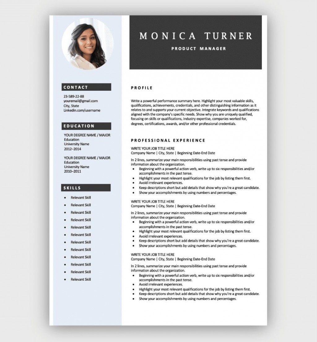 003 Stunning Free Resume Template Download High Resolution  Google Doc Attractive Microsoft Word 2020Large